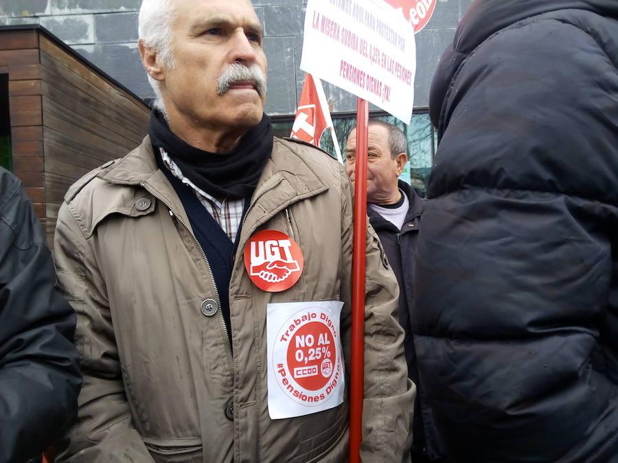 Concentración de pensionistas en Ponferrada