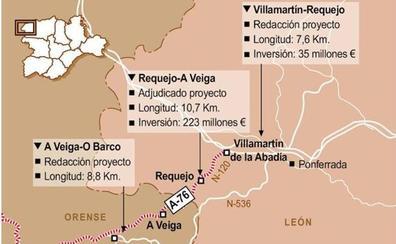 Fomento iniciará a final de año la construcción de la A-76 en el tramo berciano de Requejo