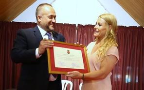 Lydia Valentín se convierte en la primera mujer reconocida como hija predilecta de la comarca del Bierzo
