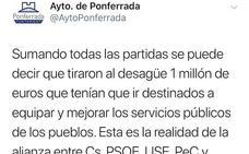 Ponferrada en Común denuncia el uso «partidista» de las redes sociales del Ayuntamiento
