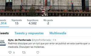 El Ayuntamiento pide disculpas y atribuyen la publicación a un error