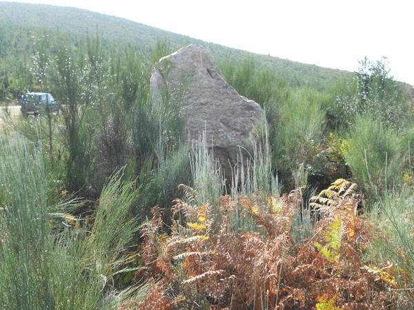 Descubren un menhir en la zona de Tejeira