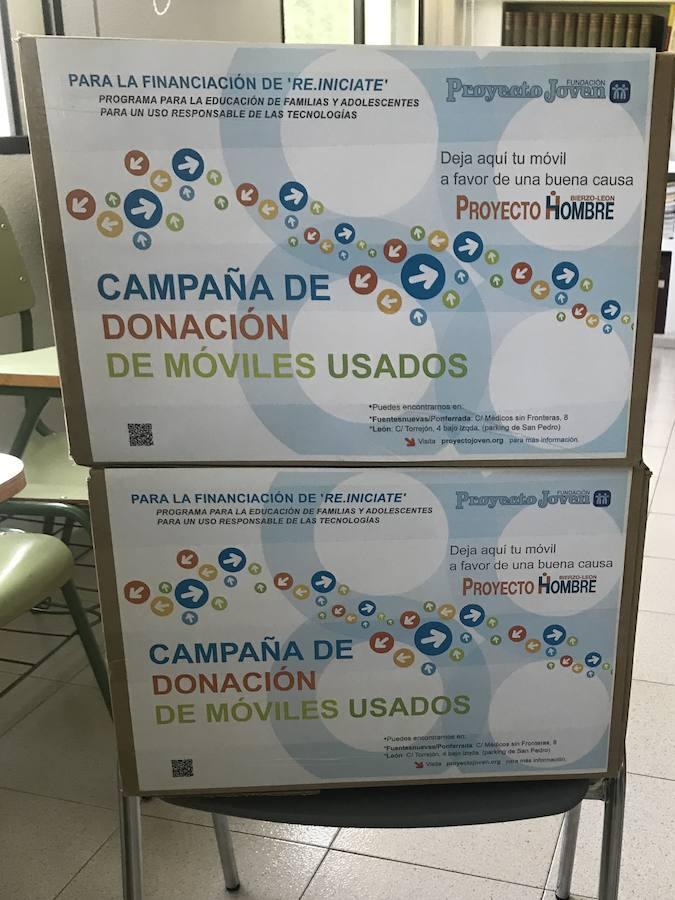 Colegios y parroquias del Bierzo se unen a la campaña de donación de móviles de Proyecto Hombre