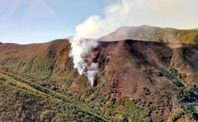 La Junta cifra en 150 hectáreas la superficie afectada por el incendio en Chano
