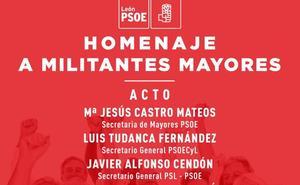 El PSOE de León homenajea este viernes a sus militantes más veteranos