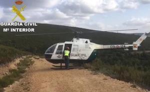 Rescatado un ciclista que se cayó mientras cubría una ruta de montaña en las cercanías de Matavenero
