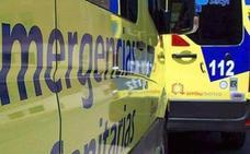 Herido el conductor de un camión que volcó en la autovía A-6 a su paso por Congosto