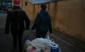 Folgoso de la Ribera recoge alimentos para Cáritas