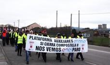 Marcha de las auxiliares de Endesa en Compostilla