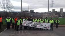Marcha a pie de las auxiliares de Endesa en Compostilla