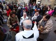 Bendición de los animales por San Antón en Cacabelos
