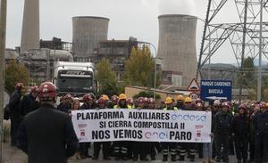 Junta y Delegación del Gobierno exigirán a Endesa que concrete el compromiso para recolocar a los auxiliares de Compostilla
