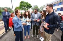El candidato del PSOE al Parlamento Europeo, Ibán García del Blanco, visita Bembibre