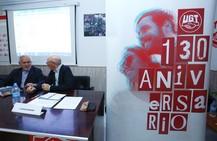 Demetrio Madrid en Ponferrada, en el 130 aniversario de UGT