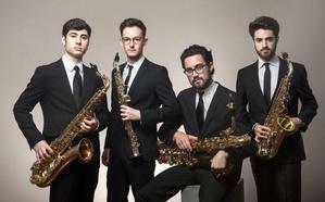 El cuarteto de saxofones Psaiko Quartet cierra la temporada de conciertos de Juventudes Musicales en Ponferrada