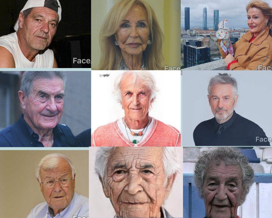 Galería. Así envejecerían los famosos leoneses con FaceApp