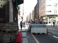 Comienzan las obras de remodelación de la calle Gómez Núñez de Ponferrada