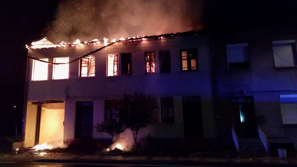 Incendio de un edificio en Villalibre de la Jurisdicción