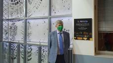 La ULE 'abraza' el Campus de Ponferrada en la inauguración de la nueva iluminación de su vidriera