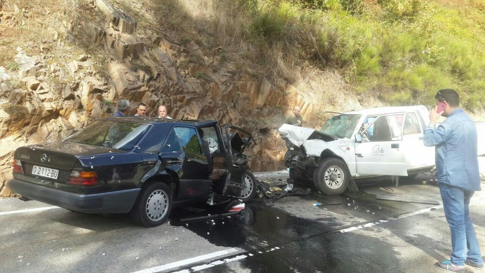 Accidente mortal en Cuevas del Sil