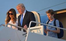 Melania y Barron Trump se instalan en la Casa Blanca