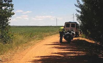 Herido de consideración un motorista tras sufrir un accidente en un camino agrícola en Zuares del Páramo