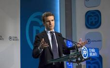Casado, a Puigdemont: «Cuanto antes haya comicios y se vayan a su casa, mejor»