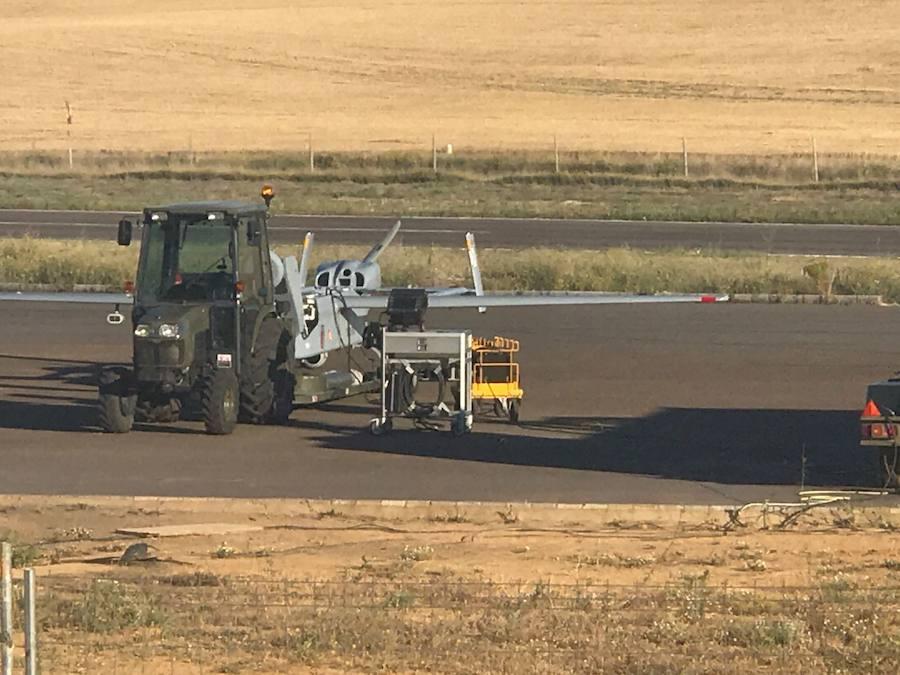 El avión no tripulado trabaja a pleno ritmo
