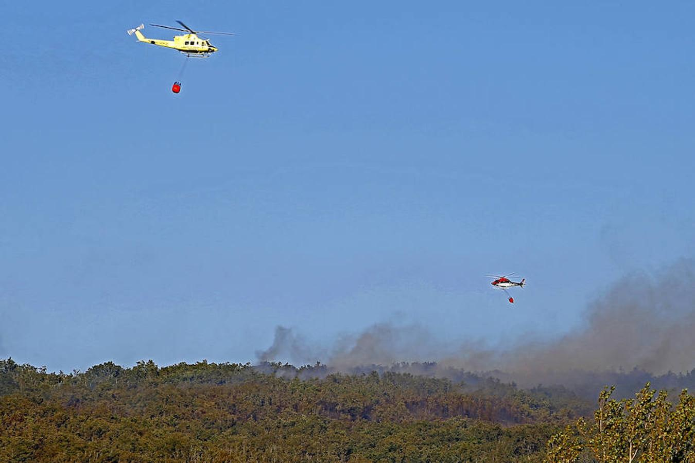 Extinción del incendio de San Cipriano del Condado