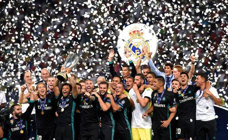 Las mejores imágenes de la victoria del Real Madrid ante el United en la Supercopa de Europa
