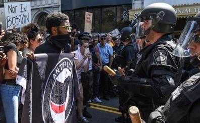 Al menos 33 detenidos tras una manifestación antirracista en Boston