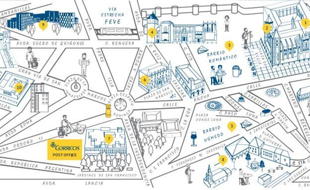 Correos Distribuye Un Mapa Que Anima A Los Peregrinos A Descubrir