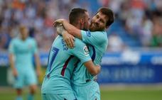 Los goles de Messi, la mejor alfombra para Dembélé