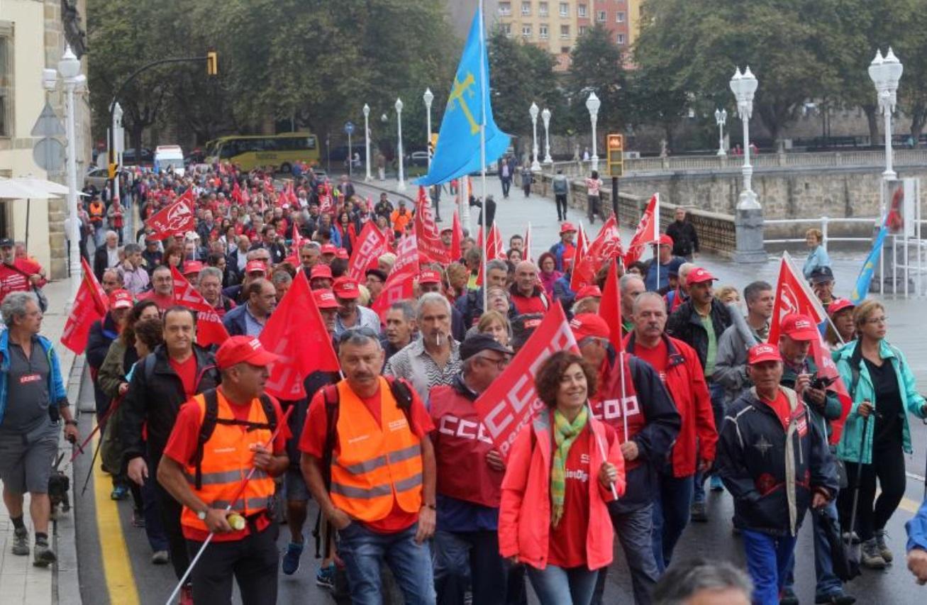 Marcha a pie por el futuro de las pensiones