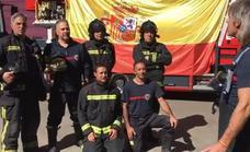 Los Bomberos de León muestran su apoyo a los miembros de la Policía Nacional y Guardia Civil en Cataluña