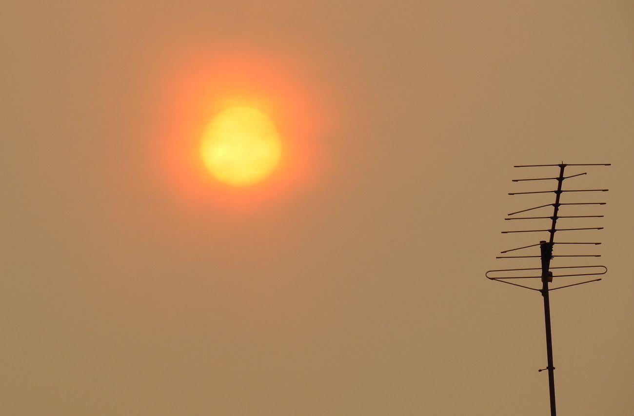 León bajo un 'sol rojo'
