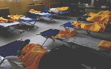 Más de un centenar de afectados se refugian en el colegio de San Rafael (Segovia)