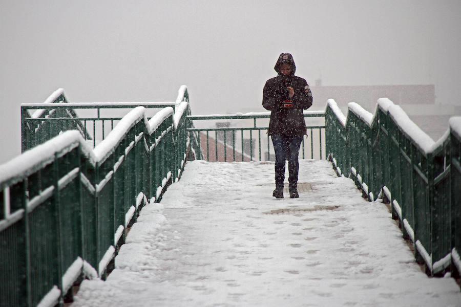 La nieve, a vista de Peio