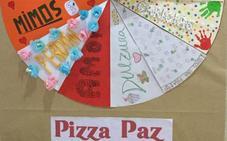 'Pizza paz' en el día escolar de la paz y la no violencia celebrado en el colegio Divina Pastora