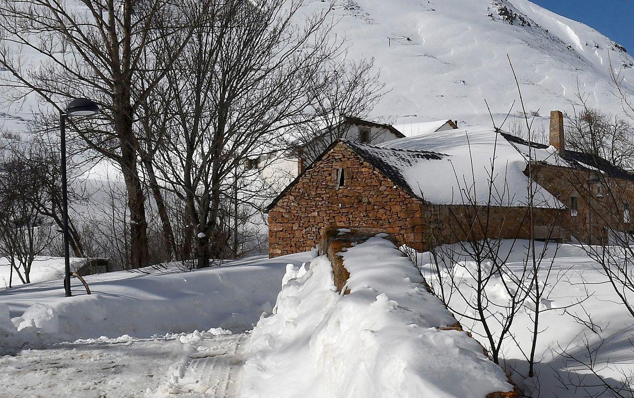 Nieve sobre La Cueta