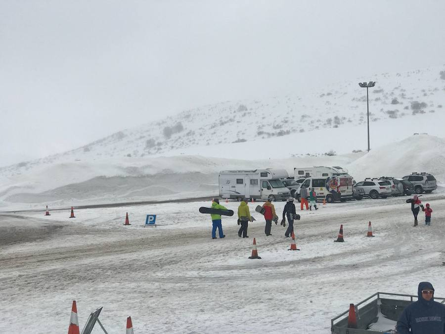 La nieve conquista San Isidro
