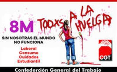 CGT convoca para el Día de la Mujer Trabajadora una huelga general