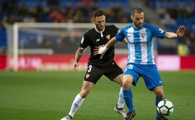 El Sevilla gana como quiere a un Málaga sin recursos y casi en Segunda