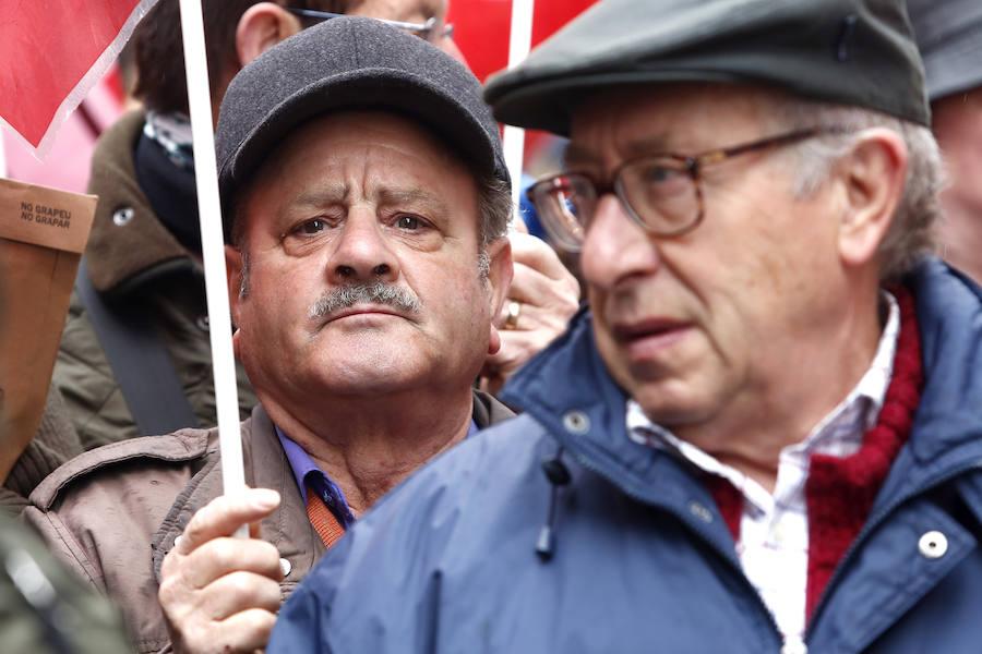 Las imágenes de la concentración por las pensiones