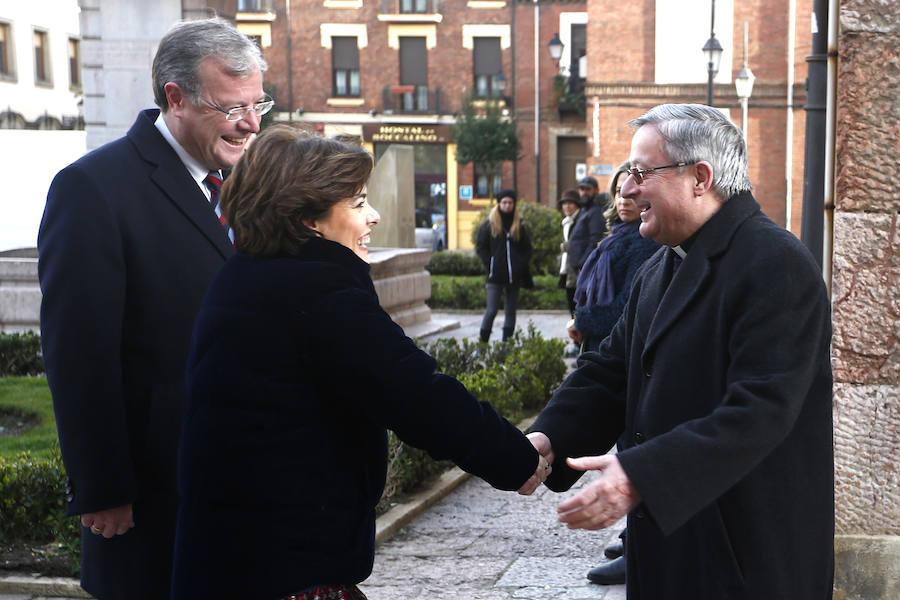 Visita de la vicepresidenta del Gobierno a León