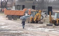 El mal tiempo pone en peligro los plazos 'récord' para la urbanización del Palacio de Exposiciones