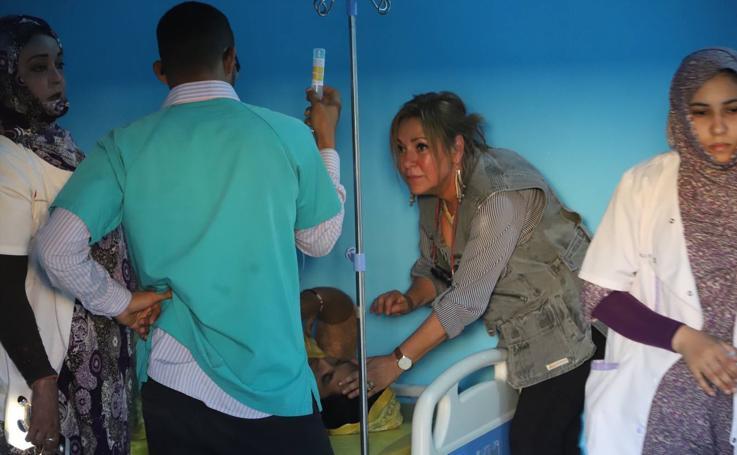 Visita de una delegación de Castilla y León a los campos de refugiados del Pueblo Saharaui