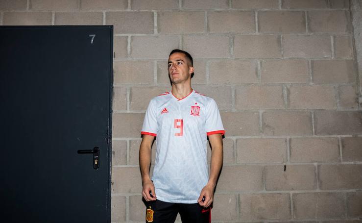 Segunda equipación de España para el Mundial de Rusia