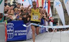 Sergio Sánchez vuela en la Media Maratón de Segovia