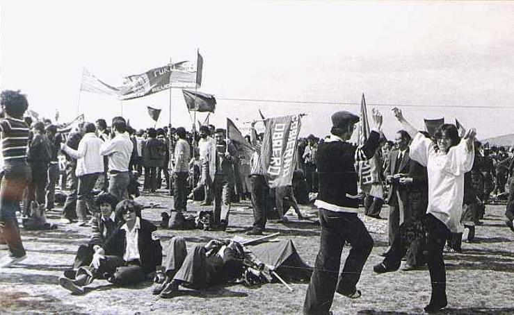 Primeras celebraciones en la campa de Villalar